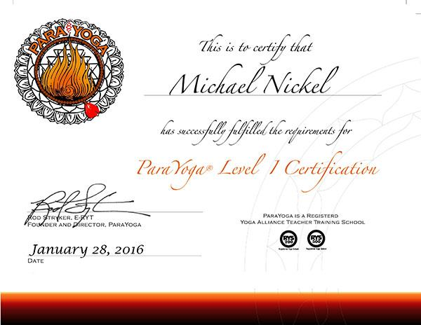 Michael Nickel Level I Certif 2016 newlogo 600